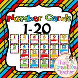 Number Cards 1-20 is a great resource for preschool and kindergarten classrooms.  Created by That Creative Teacher