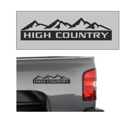 Chevy High Country Bedside Graphic Set Of 2 Decal Stickers Chevy