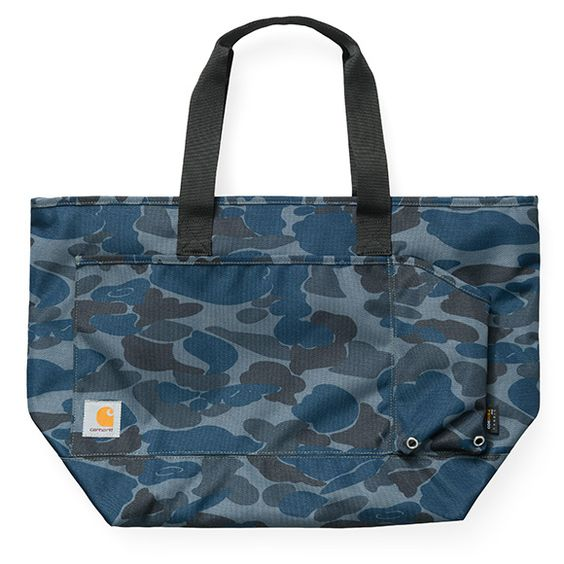 carhartt wip kane tote bag camo isle duke blue. Black Bedroom Furniture Sets. Home Design Ideas