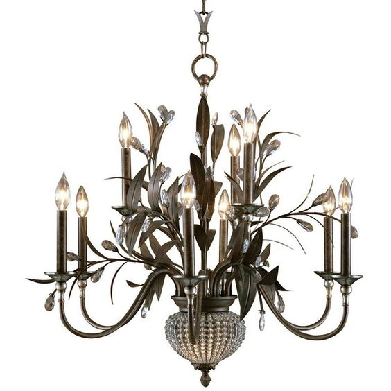 Uttermost Cristal de Lisbon Collection Two Tier Chandelier - #66642 ($592) ❤ liked on Polyvore