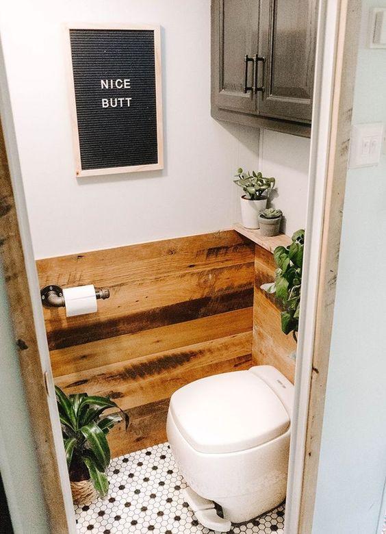 toilet klein letterbord