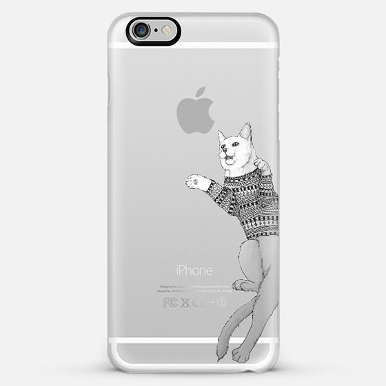 Hipster Cat trying to catch the Moon; by Barruf get $10 off using code: S29WXC  @Casetify