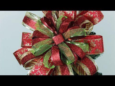 Moño Navidad Como Hacer Un Moño Grande Para El Arbol O Pino De Navidad Manualidades Hablo Tutorial Para Hacer Un Moño Arcos De Navidad Guirnalda De Navidad