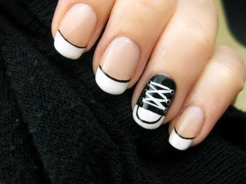 Learn how to create cute little Converse Shoes on your nails!