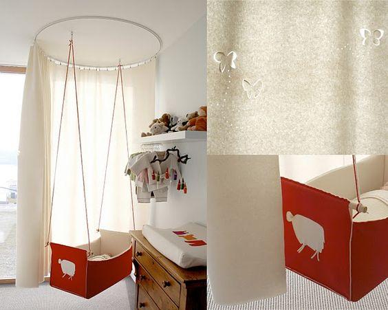 handmade felt cradle