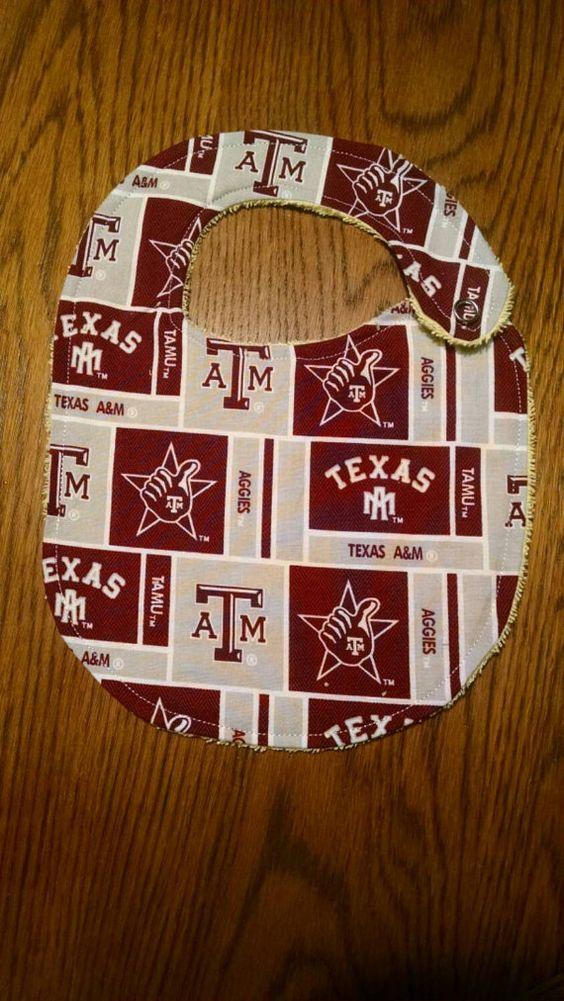 Texas A&M Univeristy Aggie Bib or Burp Cloth by AweBeeDesigns