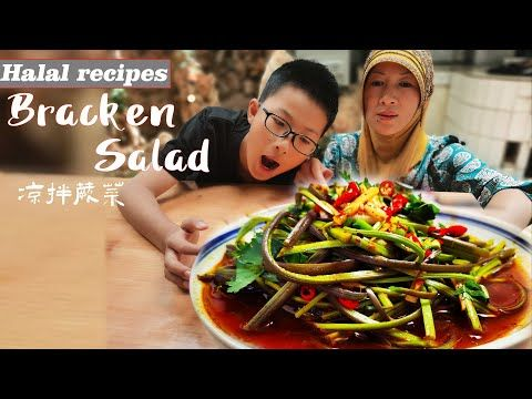 Muslim Chinese Food Best Chinese Halal Food Recipes Bracken 蕨菜 Youtube In 2020 Halal Recipes Halal Chinese Food