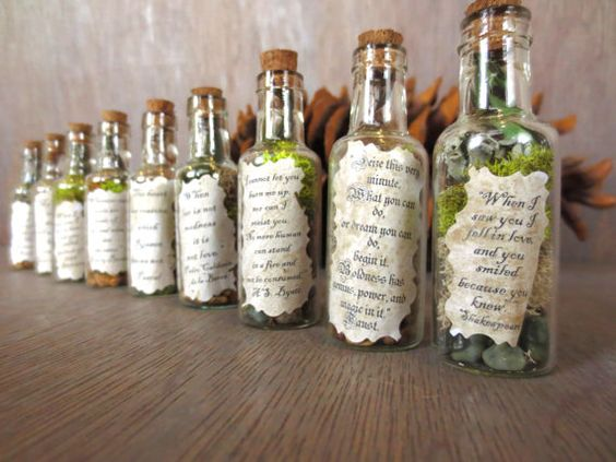When Love is Not Madness.... Message in a Bottle Message Inspirational Quote Message Lovers Gift Love Note in a Bottle Miniature Terrarium. $10.00, via Etsy.