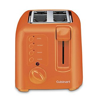 cuisinart 2 slice orange compact toaster kitchens pinterest compact toaster and orange. Black Bedroom Furniture Sets. Home Design Ideas