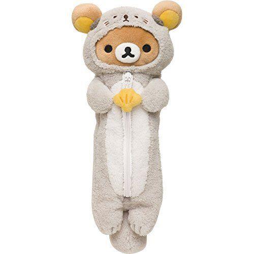 Rilakkuma Pen Pouch Plush Stuffed Japan San-X Free Shipping