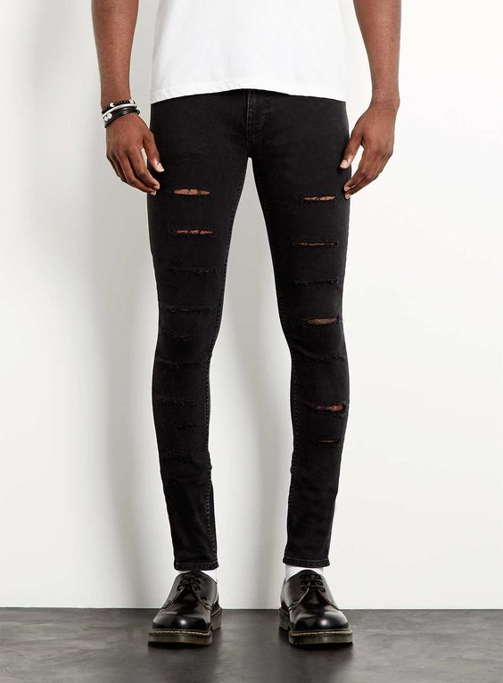 Tight Black Skinny Jeans - Jon Jean