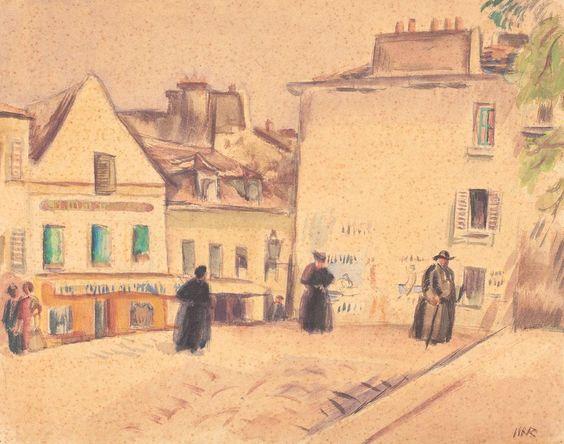 Plaza in Montmartre - Iosif Iser