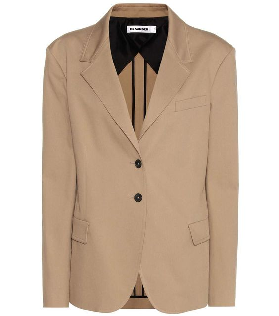 JIL SANDER Cotton Jacket. #jilsander #cloth #jackets