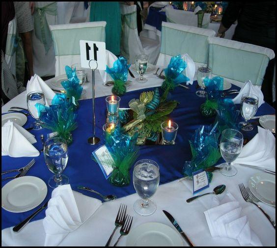 themed+table+settings | Peacock Themed Wedding Table Settings - wedding decorations : Wedding ...