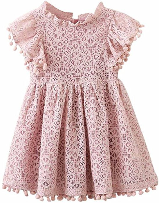 WUAI Toddler Baby Girls Sequins Tulle Party Dress Casual Princess Wedding Birthday Party Dress Ball Gown