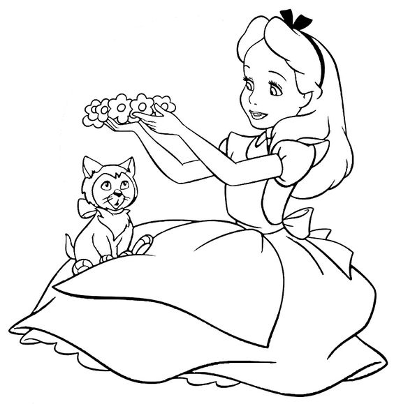 Free Printable Alice in Wonderland Coloring Pages http://procoloring.com/alice-in-wonderland-coloring-pages/