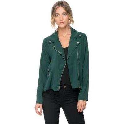 Zalora - Lightweight Biker Jacket - Coats &amp Jackets Army Green