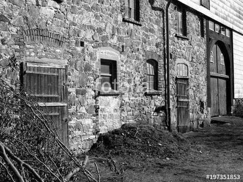 Leerstehendes Altes Bauernhaus Mit Fassade Aus Bruchstein Und