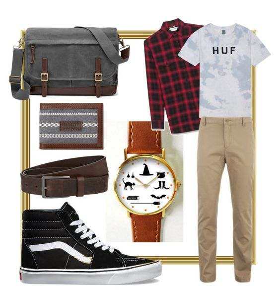 """""""Work work style"""" by rayatan on Polyvore featuring Yves Saint Laurent, HUF, FOSSIL, Lacoste, Hollister Co., HUGO, Vans, men's fashion and menswear"""