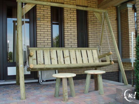 houten schommelbank tuinmeubelen limburg kapaza tuin