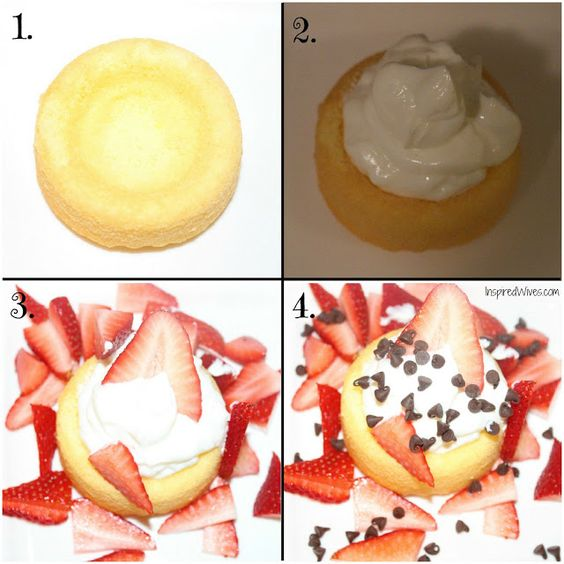 DIY strawberry shortcakes.  You've got to try this low calorie, easy made dessert!