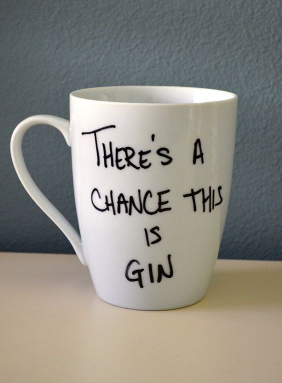 There's A Chance This Is Gin  Porcelain by FlutterBunnyBoutique, $15.99