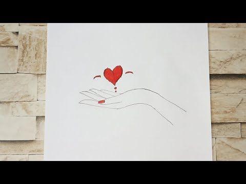 رسم سهل تعليم رسم يد بقلب خطوة بخطوة رسم سهل وجميل Youtube
