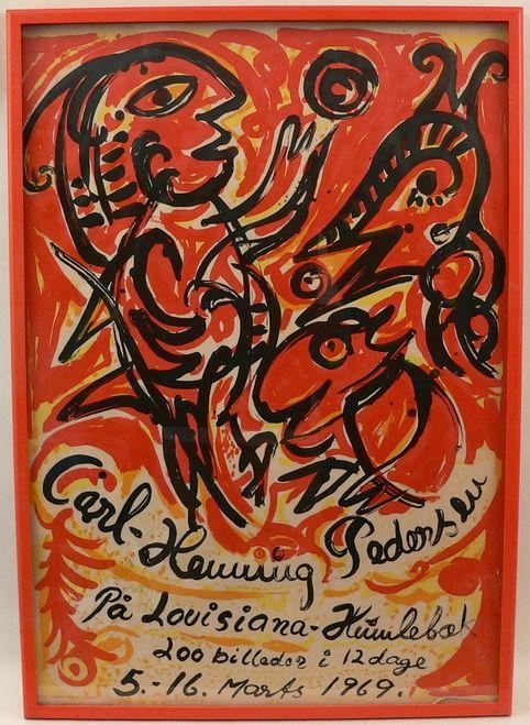 Carl Henning Pedersen Poster Henning Vintage Posters Poster Art
