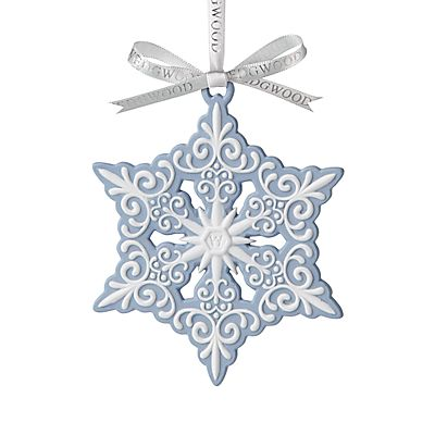 Wedgwood Pierced Snowflake Bauble