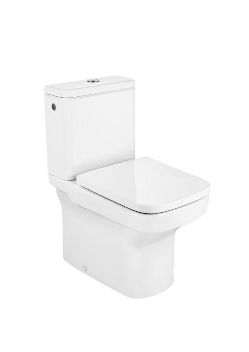 Inodoro Completo Compacto Adosado A Pared Con Salida Dual Incluye Taza Cisterna De Alimentación Lateral Y Tapa Amortiguada Inodoros De Tanq Bathroom Toilet