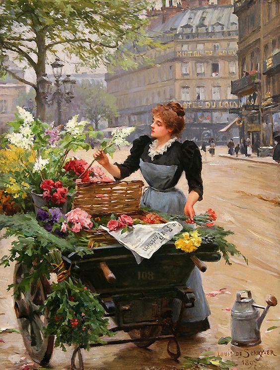 Flower. French artist Louis Marie de Schryver (1862-1942). Discussion on LiveInternet - Russian Service Online Diaries: