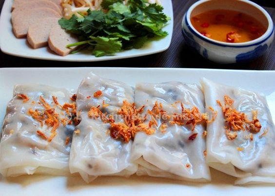 Raviolis vietnamiens au porc et aux champignons noirs (Bánh cuốn) - La kitchenette de Miss Tâm