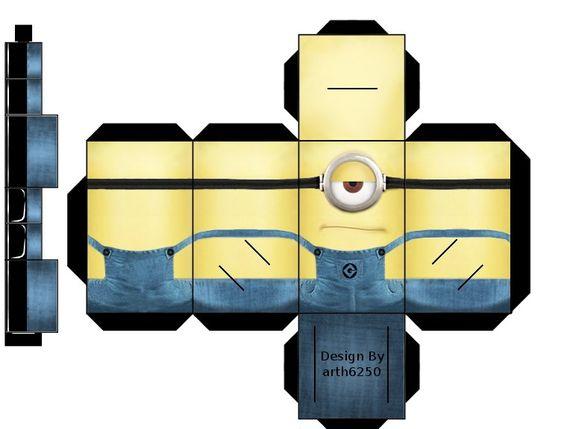 ... minion box | Craft Ideas | Pinterest | Cubes, Minions and Paper crafts