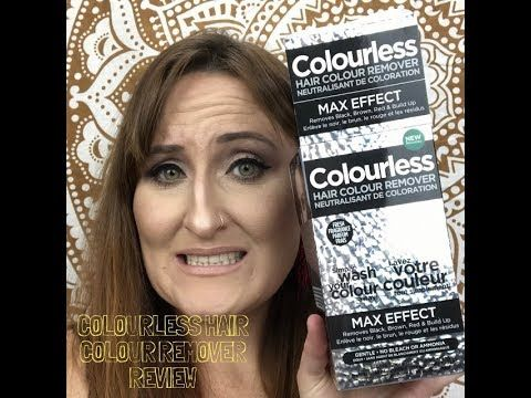 Review Of Colourless Hair Colour Remover Pass Or Fail Youtube