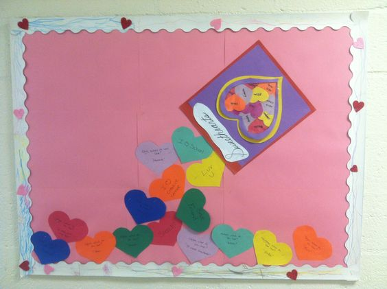 Board I did for oitside my classroom  for valentines day theme unit .