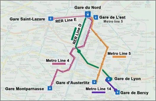 Gare du Nord TGV, Paris RER, Metro train station. See TGV ticket ...