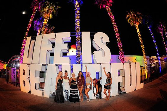 Oversize letters spelled out the name of the festival and served as a popular photo backdrop.