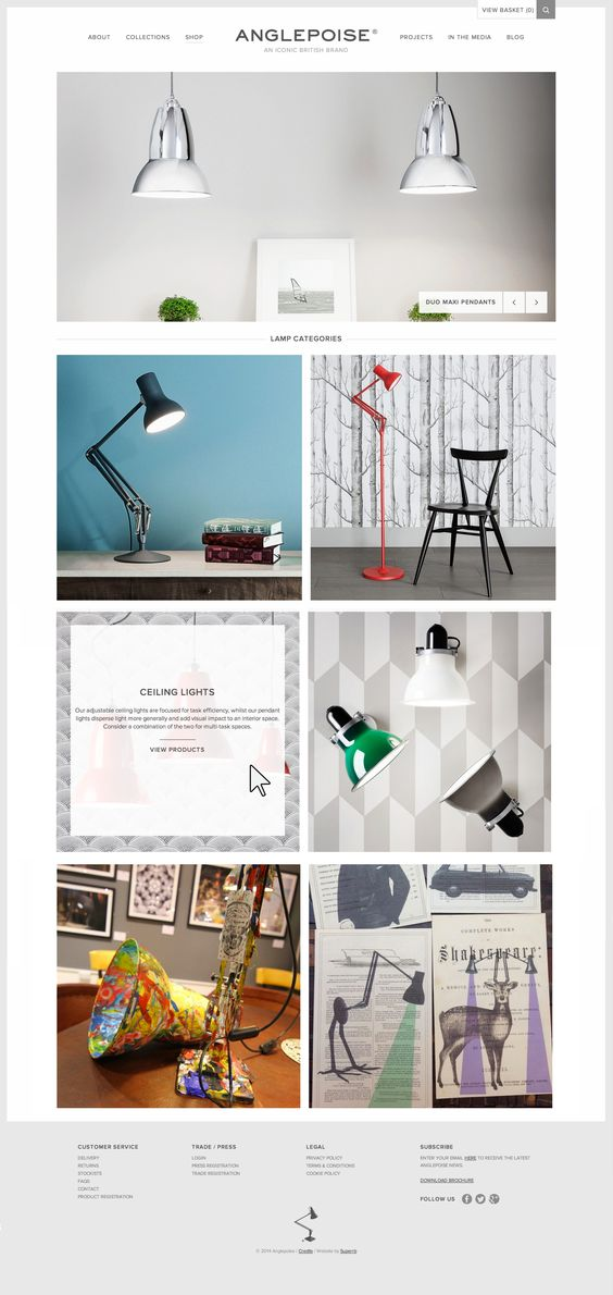 Grille listing product - #responsive - https://www.anglepoise.com/shop