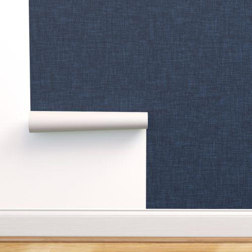 Navy Linen No 2 In 2020 Navy Linen Wallpaper Bedroom Feature Wall Navy Wallpaper