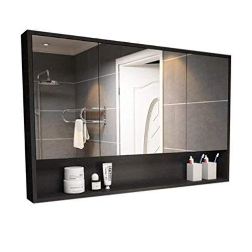 Dzwlyx Bathroom Mirror Bathroom Cabinet With Mirrors Wall Mounted Bathroom Mirror Storage Cabine In 2020 Bathroom Wall Storage Bathroom Mirror Storage Bathroom Mirror
