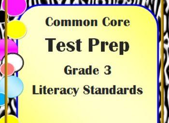 3rd Grade ELA Common Core Test Prep: Literary Standards