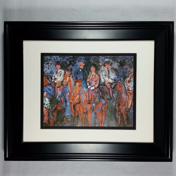 Riders in the Forest by RAOUL DUFY - Unique Curving Strokes - NEW Framed Print #Minimalism