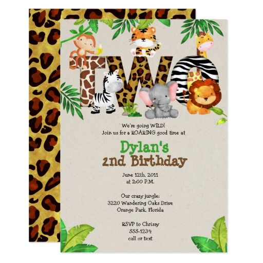 Animal party template SMS Lion Smartphone invitation Kid Circus birthday invitation tiger