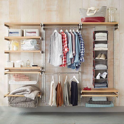 High Quality Our Monorail System Is An All In One Way To Organize A Closet, Pantry Or  Laundry Room.The Adjustable Rods And Shelves Hook Directly Onto Vertical Wu2026