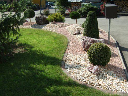 immergrüne pflanzen im kiesgarten Garten mit kies Pinterest - pflanzen fur steingarten immergrun