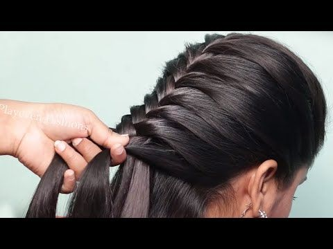 Latest Fishtail Hairstyle For Sarees Simple Hairstyle Wedding Hair In 2020 Hairstyles For Medium Length Hair Easy Party Hairstyles For Long Hair Long Hair Styles