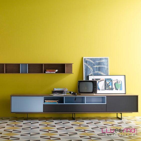 Mueble salon para television en for Ofertas muebles tv