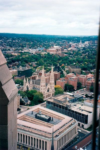 A view from the Cathedral of Learning at the University of Pittsburgh. This is the neighborhood we got to know best when we'd visit.