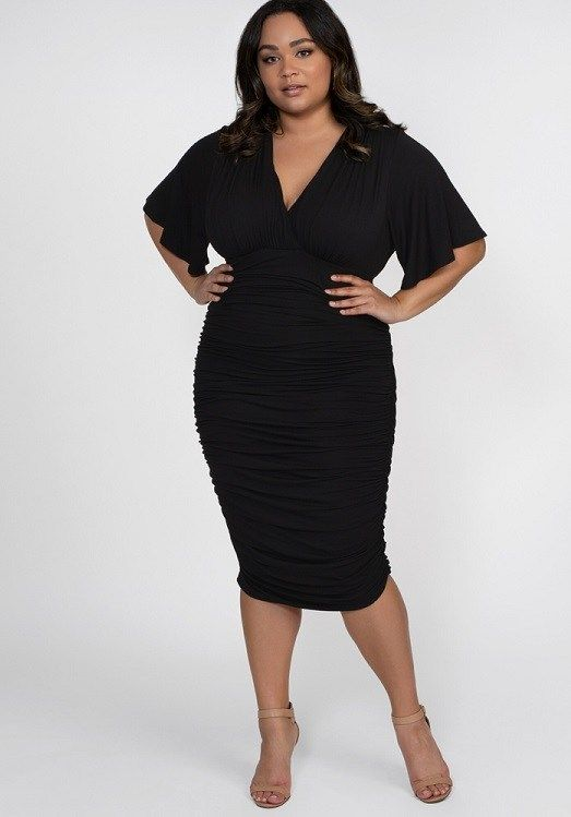 Plus Size Little Black Dress New Styles Of The Classic Lbd In Plus Sizes Plus Size Black Dresses Plus Size Dresses Black Ruched Dress