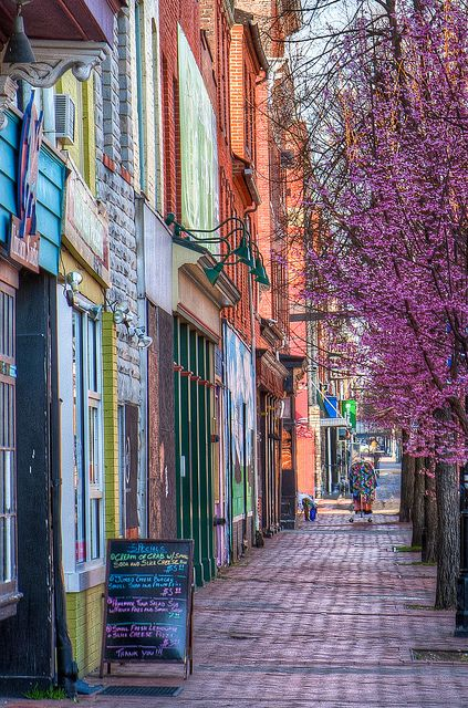 Spring time in the Fells Point neighborhood of Baltimore, MD